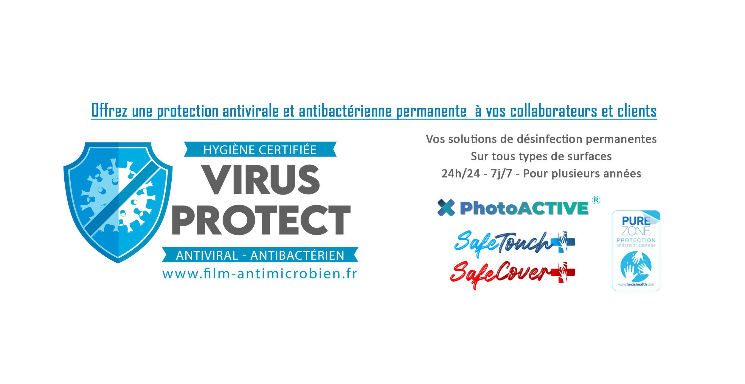 virus protect specialiste dans la pose de films antimicrobiens et vernis antimicrobiens